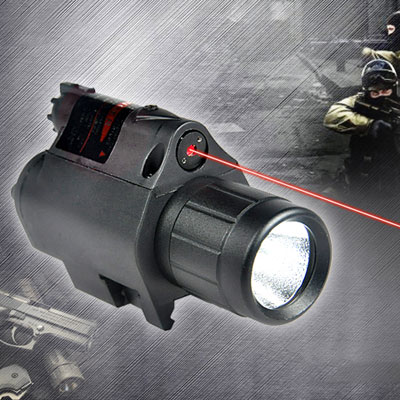 JGSD Combo laser rouge 5mW et lampe LED tactique