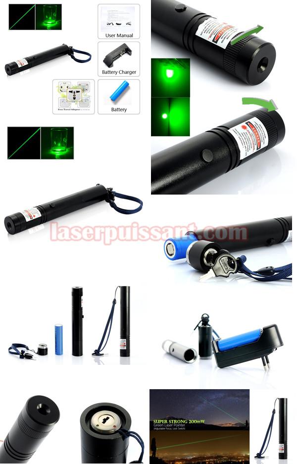 200mW Pointeur laser vert