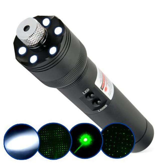 lampe torche led et pointeur laser vert 200mw chez. Black Bedroom Furniture Sets. Home Design Ideas