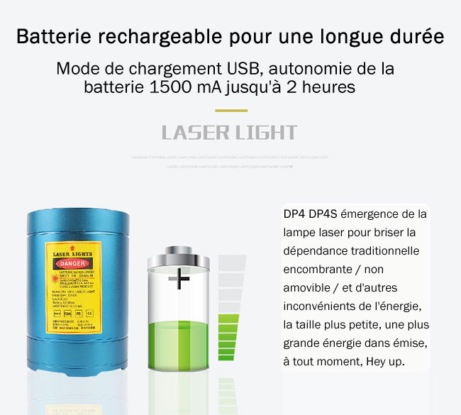 lampe laser rechargeable