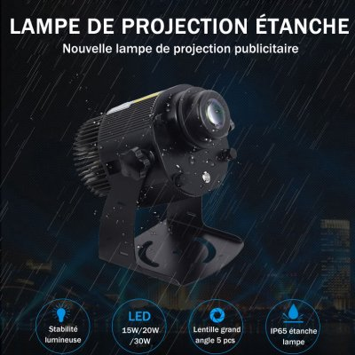 Lampe de projection LED 15W/20W/30W étanche