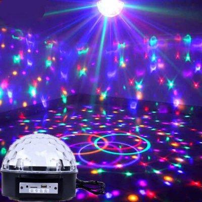 Lumières de la scène KTV couleurs 9 contrôle vocal bluetooth