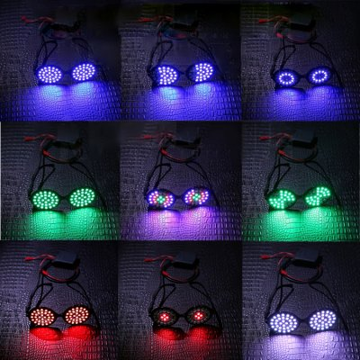 Couleurs LED changeant lunettes luminescents